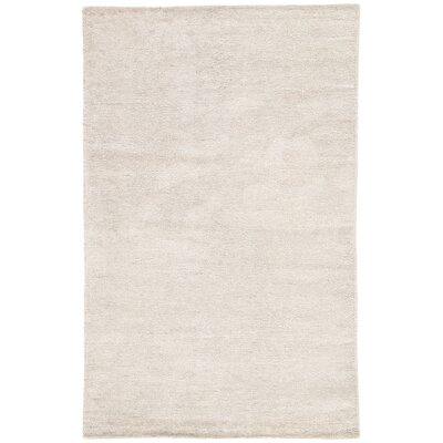 Brigitte Hand-Loomed Silver Area Rug Rug Size: Rectangle 5 x 8