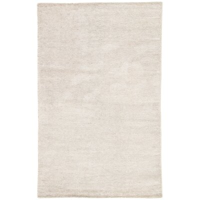 Brigitte Hand-Loomed Silver Area Rug Rug Size: Rectangle 2 x 3
