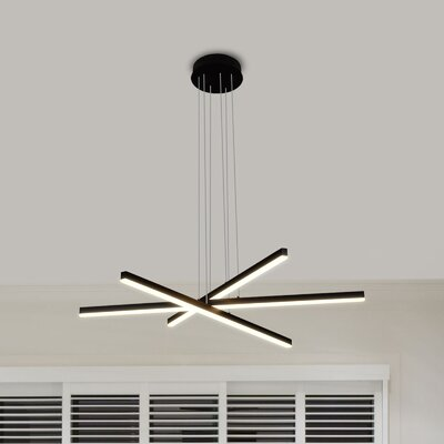 Northgate 3-Light LED Geometric Pendant Finish: Black
