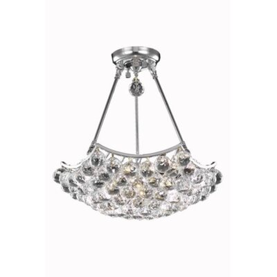 Troas 8-Light Crystal Chandelier Finish: Chrome, Crystal Grade: Spectra Swarovski