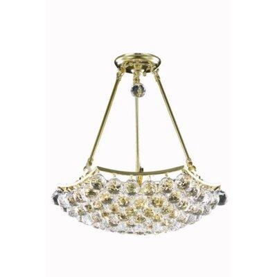 Troas 8-Light Crystal Chandelier Finish: Gold, Crystal Grade: Royal Cut
