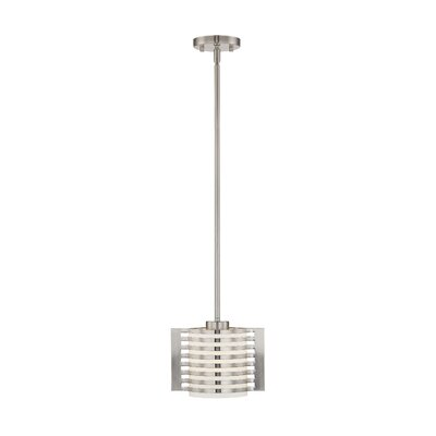 Virgina 1-Light Mini Pendant Finish: Brushed Nickel