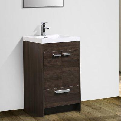 Zuzanna 24 Single Bathroom Vanity Set Base Finish: Gray Oak