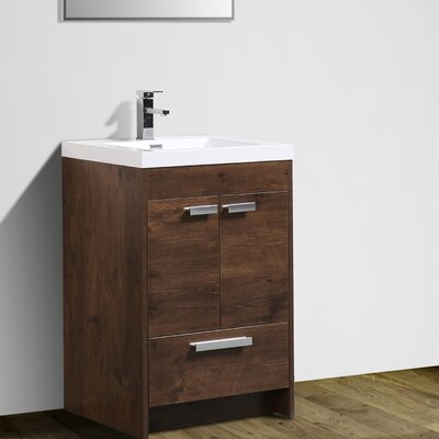 Zuzanna 24 Single Bathroom Vanity Set Base Finish: Rosewood