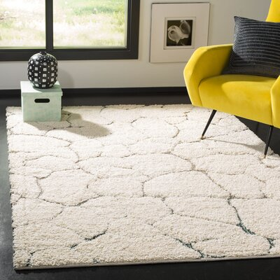 Grunwald Shag Cream Area Rug Rug Size: Rectangle 51 x 76