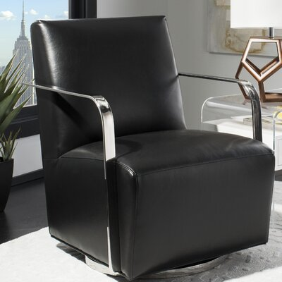Bevill Swivel Arm Chair Upholstery: Black