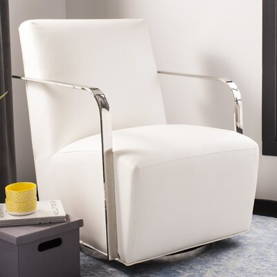Bevill Swivel Arm Chair Upholstery: White