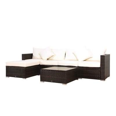 Deguzman Rattan Sectional Set Cushions 369 Product Pic