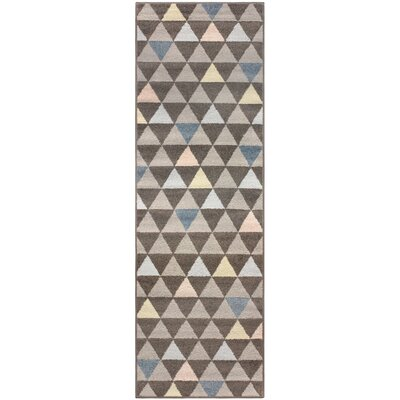 Kendra Pastel Aztec Gray Area Rug Rug Size: Runner 2'7