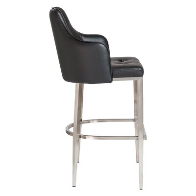 Aurianna 29.5 Bar Stool Upholstery: Black