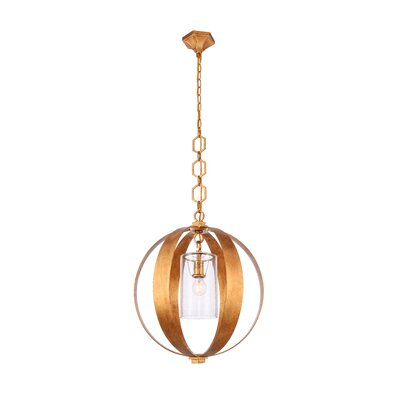 Damiane Transitional 1-Light Globe Pendant