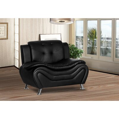 Sifford Club Chair Upholstery: Black