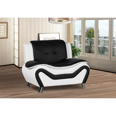 Sifford Club Chair Upholstery: Black/White