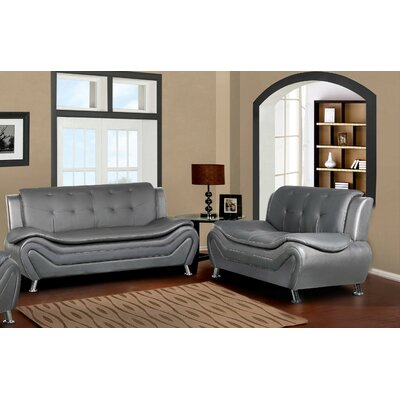 Sifford 2 Piece Living Room Set Upholstery: Gray