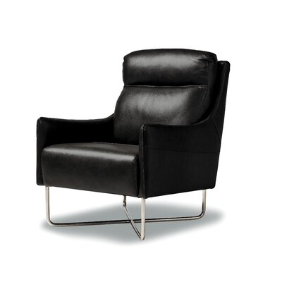 Pothier Club Chair Upholstery: Black