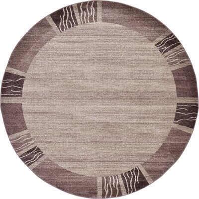 Christi Light Brown Area Rug Rug Size: Round 6