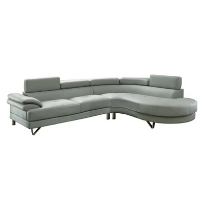Shreffler Sectional Upholstery: Gray