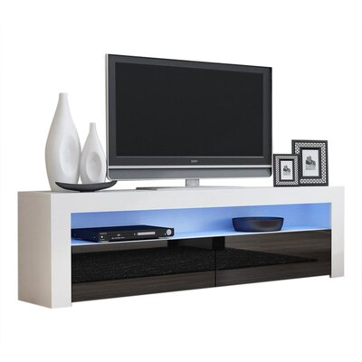 Ranallo Contemporary 65 TV Stand Color: White/Black
