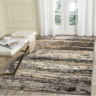 Hammitt Gray/Black Area Rug Rug Size: Rectangle 79 x 95