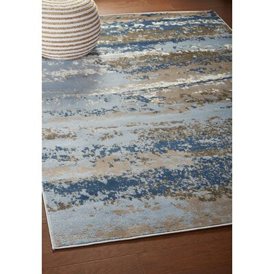 Riehl Blue Area Rug Rug Size: Rectangle 7'9