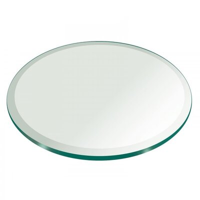 Jayanth Round Tempered Glass Table Top Size: 62 L x 62 W