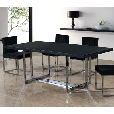 Grenier Dining Table Base Color: Silver
