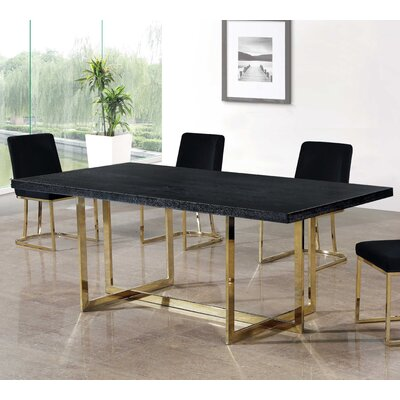 Grenier Dining Table Base Color: Gold