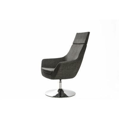 Crafa Swivel Lounge Chair Upholstery: Brown Leather