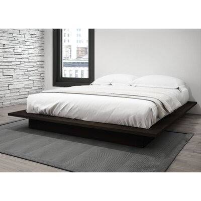Decimus Queen Platform Bed Rails and Footboard Color: Dark Espresso