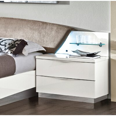 Edwards 2 Drawer Nightstand Color: White