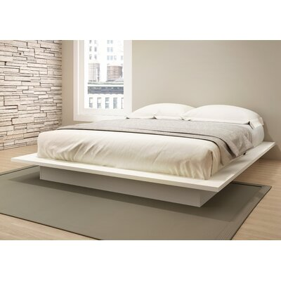Decimus Queen Platform Bed Rails and Footboard Color: Off White