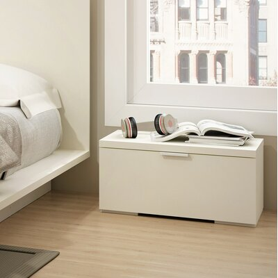 Decimus 1 Drawer Nightstand Color: Off White