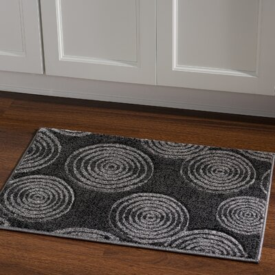 Butler Geometric Black/Gray Area Rug Rug Size: Rectangle 111 x 21