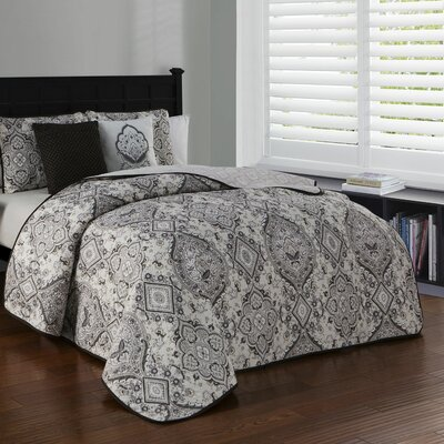 Brazeal 5 Piece Quilt Set Size: King, Color: Taupe