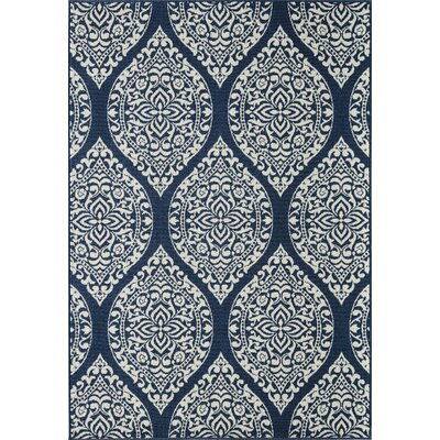 Summer Navy/Ivory Indoor/Outdoor Area Rug Rug Size: 23 x 46