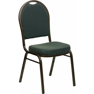 Anissa Dome Banquet Chair Finish: Green