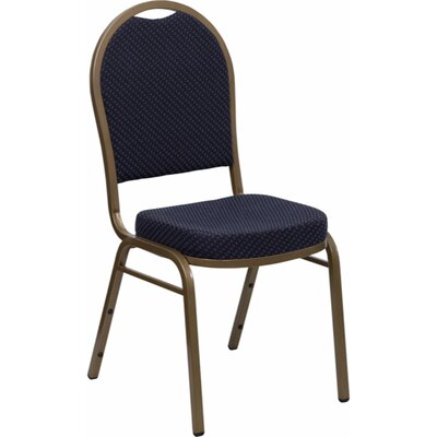 Anissa Dome Banquet Chair Finish: Navy Blue