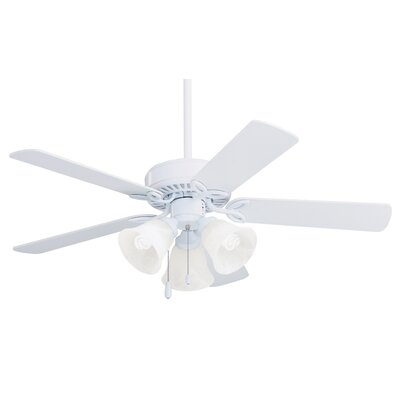 42 Kelsi Pro Series II Ceiling Fan Finish: Appliance White with White/Bleached Oak Blades