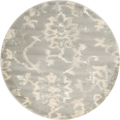 Delshire Gray Area Rug Rug Size: Round 67