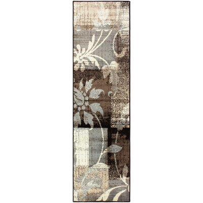 Yadira Brown/Gray Area Rug Rug Size: Runner 27 x 8