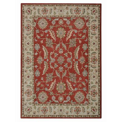 Morrisonville Hand-Tufted Wool Red/Beige Area Rug Rug Size: Rectangle 9 x 12