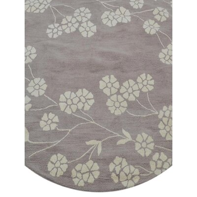 Kori Hand-Tufted Wool Beige/White Area Rug Rug Size: Square 8