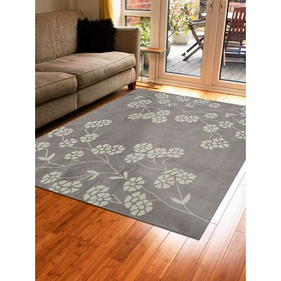 Kori Hand-Tufted Wool Beige/White Area Rug Rug Size: Square 6