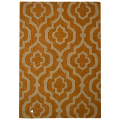 Lucero Hand-Woven Wool Gold/White Area Rug Rug Size: Rectangle�5 x 8