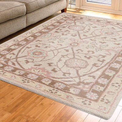 Skye Hand-Tufted Wool Cream Area Rug Rug Size: 8 x 11