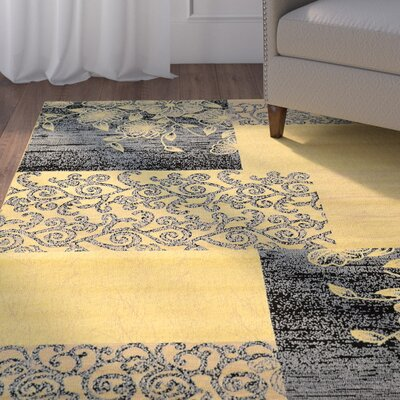 Danica Cream Area Rug Rug Size: Rectangle 5 x 7
