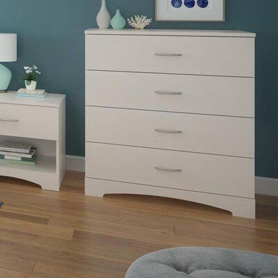 Poulson 4 Drawer Dresser Color: Vintage White