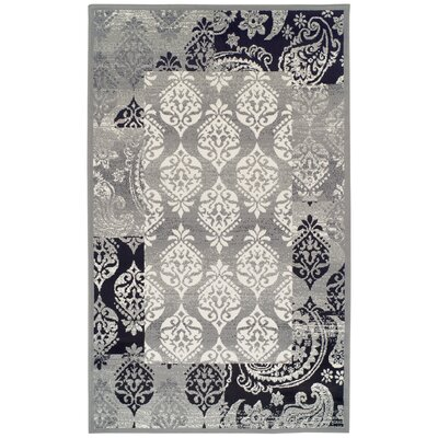 Ellen Gray/BlackArea Rug Rug Size: Rectangle 4 x 6
