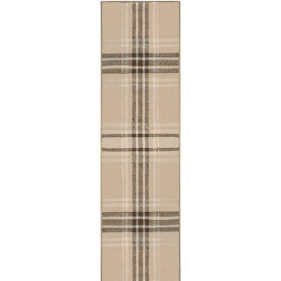 Ashley Beige Indoor Area Rug Rug Size: Runner 27 x 8
