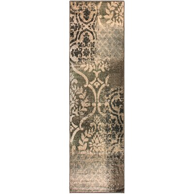 Maggie Ivory/Gray Area Rug Rug Size: Runner 27 x 8